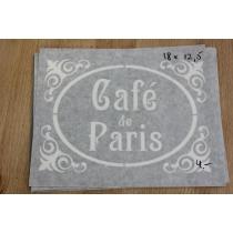Ühekordne šabloon Cafe de Paris 18x12,5