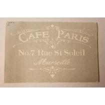 Ühekordne šabloon Cafe Paris 35x55