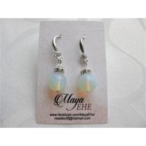 Kõrvarõngad  opaliit, Swarovsky kristallid